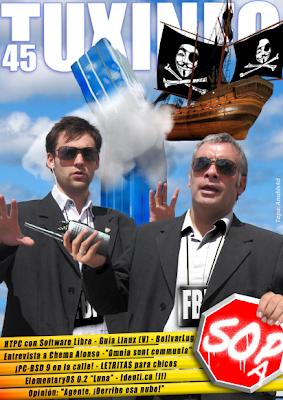 Imagen de la portada de la revista TuxInfo número 45