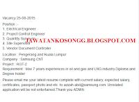 Jawatan Kosong Samsung CNT Bulan Ogos