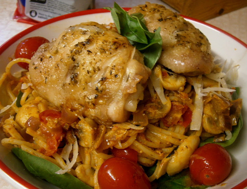 Linguine With Chicken Thighs Recipe — Dishmaps