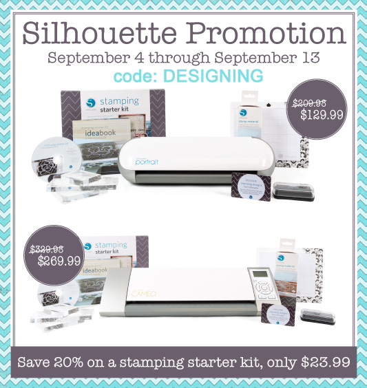 Silhouette Stamping Starter Kit SALE + Deals on Cameo and Portrait too!!  use code: DESIGNING www.silhouetteamerica.com/stamping  @silhouetteamerica @simplydesigning #silhouette #silhouettepromotion