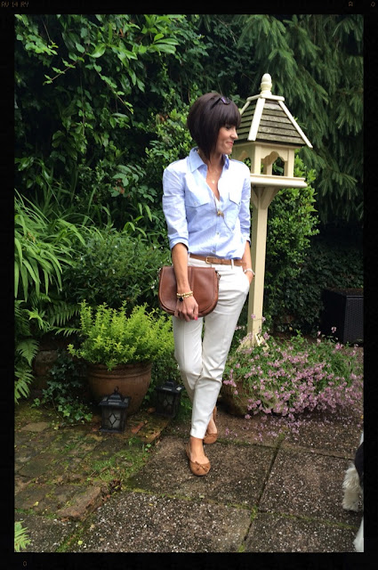 My Midlife Fashion, Zara, Clarks Saddle Bag, Capri Trousers, How to style cigarette pants, john lewis, massimo duty, studio striped shirt