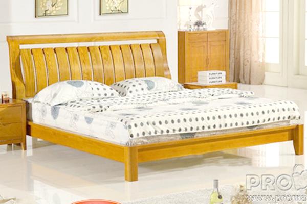 Giường cưới đẹp, Giường đôi gỗ tự nhiên GDO1617