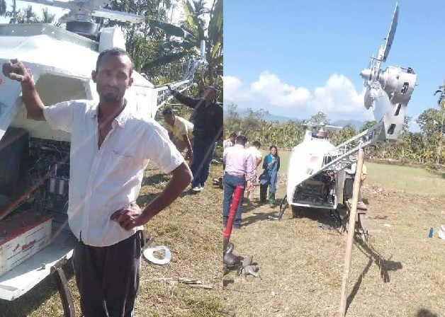 Gorkha from Assam Chandra Sharma to fly self made helicopter on Republic Day