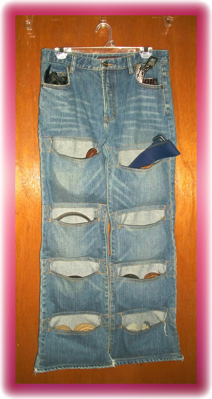 Hongkongchic upcycled denim belts organizer for Jeans upcycling ideas
