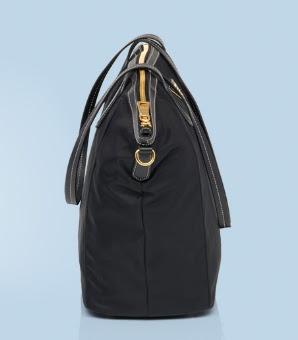 prada mens bags sale - Prada Nylon Double Handle Shopper Tote - Black