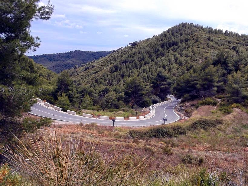 Ruta en moto por el Aitana