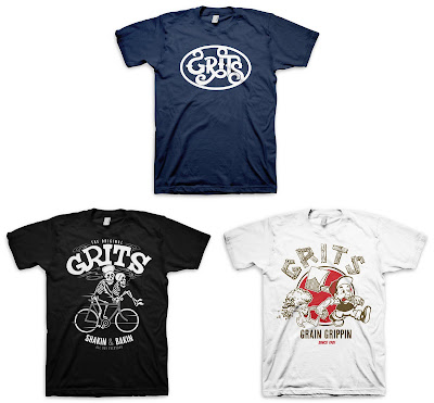 The Shakin' N Bakin' T-Shirt Series Pt 1 by Grits Apparel - Grits Logo Tee, Shakin' -N- Bakin' & Grippin' Grain T-Shirts