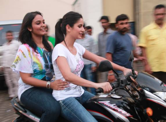 Katrina Kaif  - Katrina Kaif Riding a Bike - Real Lif ePic
