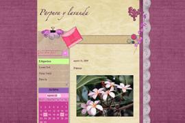 Plantilla Púrpura y Lavanda