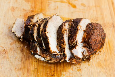 Slow Cooker Pork Sirloin Tip Roast with Balsamic Vinegar, Rosemary ...