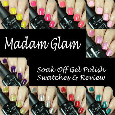 Madam Glam Gel Polish Swatches and Review