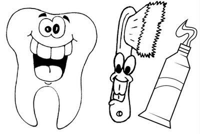 desenhos de higiene bucal para colorir parte 1 plantão blog