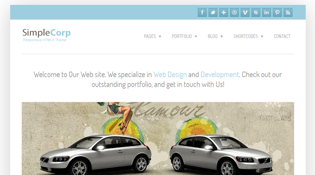 Simple Corp : Responsive Blogger Template