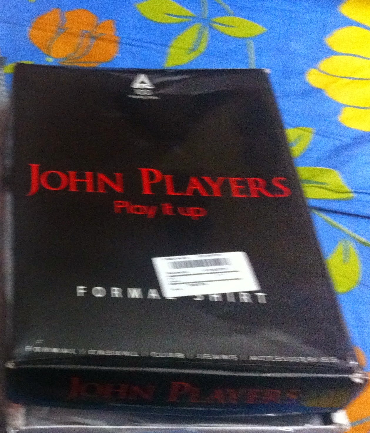 John Players Black formal Shirt