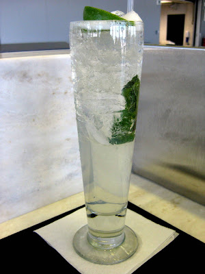 Ginger Mojito at Wicker Park Seafood & Sushi Bar at O'Hare International Airport (ORD) in Chicago, IL - Photo by Michelle Judd of Taste As You Go