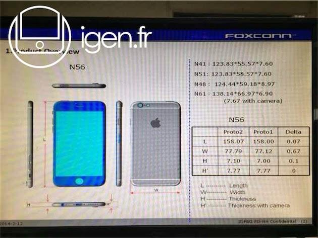 iPhone 6  ilgili Foxconn'dan Sızıntı