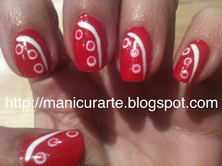 red polka nails