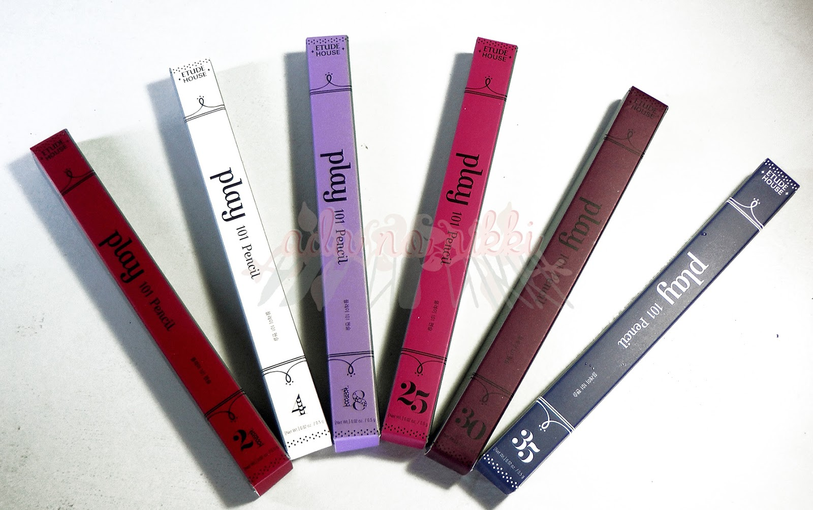 Etude House Play 101 Pencils in # 4, 18, 21, 25, 30, 35