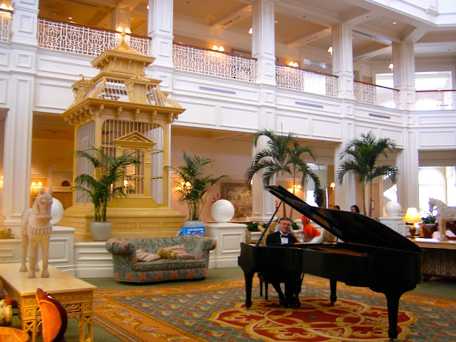 Grand piano in the lobby of the Grand Floridian, Disney World, Florida