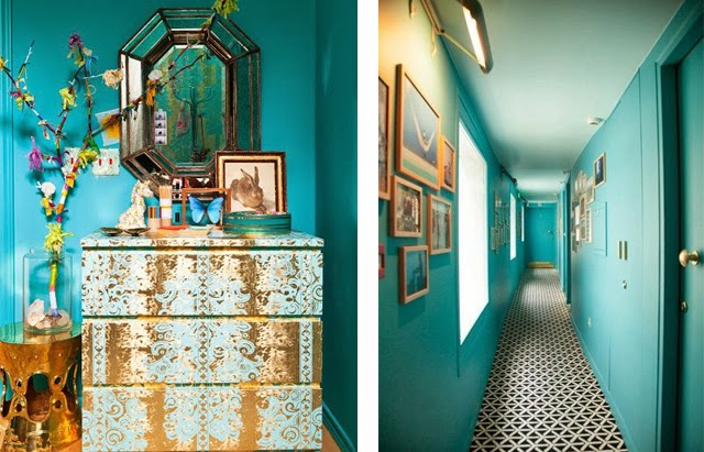 Lovers of mint blog d co boh me et cool lifestyle for Couloir turquoise