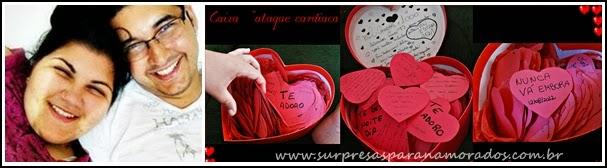 caixa ataque do coração para namorado