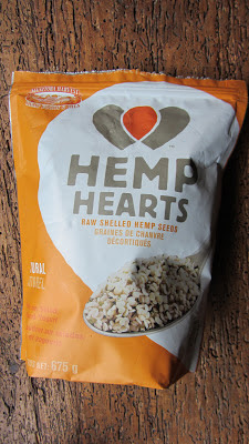 hemp hearts package on a background of wood
