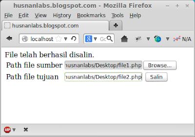 Copy file melalui PHP dan HTML