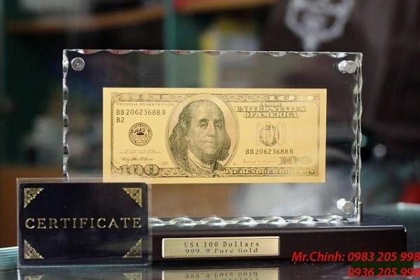 100 usd bằng vàng làm tiền lì xì