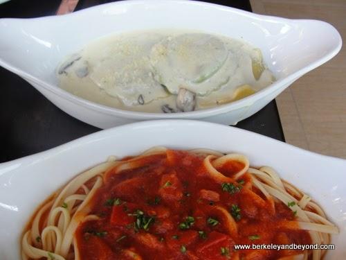 pastas at Galeto Brazilian Grill in Oakland, California
