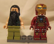 Iron Man comes with the usual range of transclear blue bricks to create a .