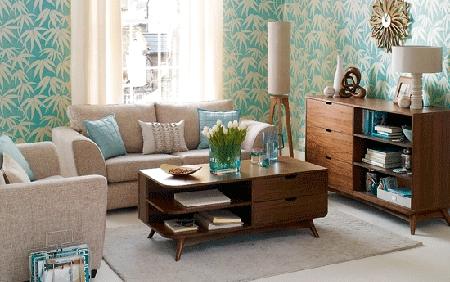 Decorando y renovando decorando con estilo retro for Muebles salon estilo vintage