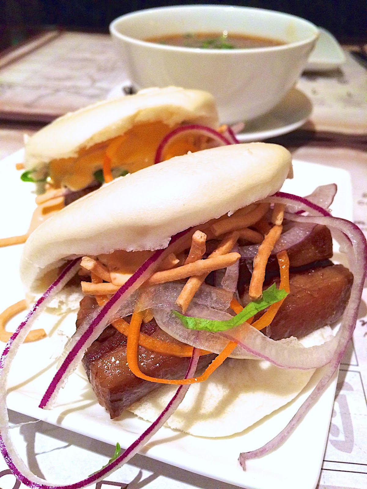 Pork Belly Steam Buns - Nine Dragons Restaurant - Epcot {Disney World}
