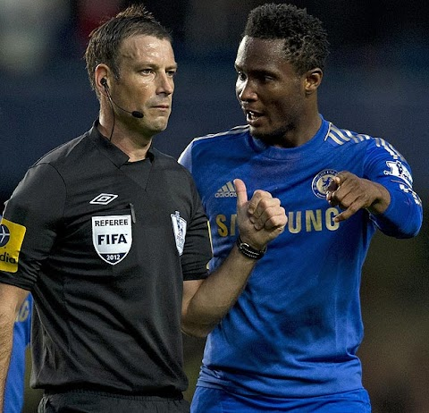 Ref is alleged to have called black Chelsea star Mikel 'monkey