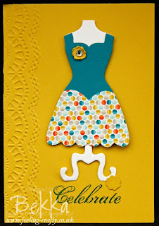 Simple Sale-a-Bration Dress Up Cards by Stampin' Up! Demonstrator Bekka Prideaux - you can get everything you need for this card from her