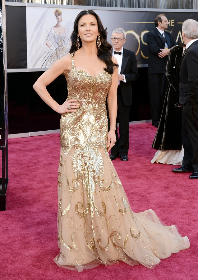 Catherine Zeta Jones - Celebrity Fashion at the 2013 Oscars