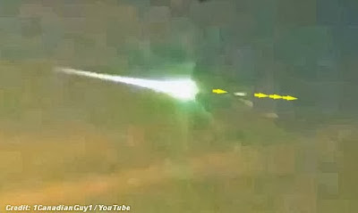Did UFO Strike the Russian Meteor?