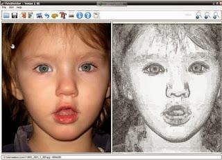 برنامج تحويل الصور الى رسم بالرصاص download fotosketcher