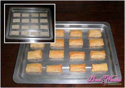 Cara buat puff pastry krim kastard peach sedap. Resepi mudah puff pastry cream custard peach best senang simple