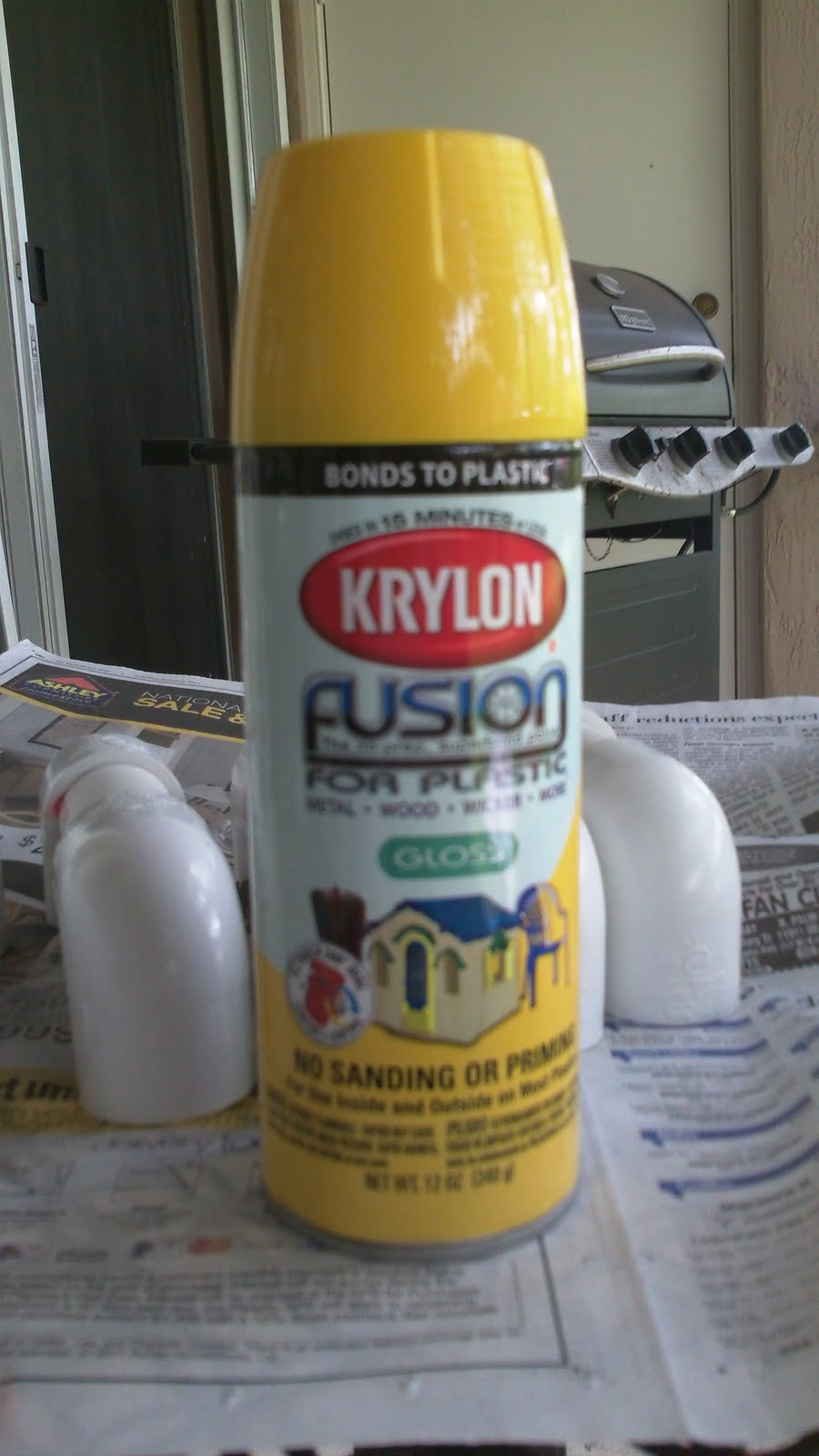 krylon fusion and rustoleum plastic bond spray paint