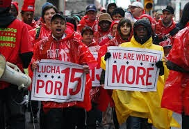 Fight for $15, low-wage workers campaign for living wage