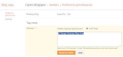 Ciyoni-Blogspot Cara Membuat Deskripsi Blog