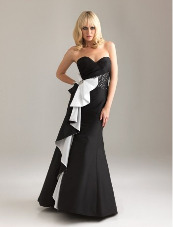 White Evening Dress on Raining Blossoms Prom Dresses  Black And White Prom Dresses Spicy Up