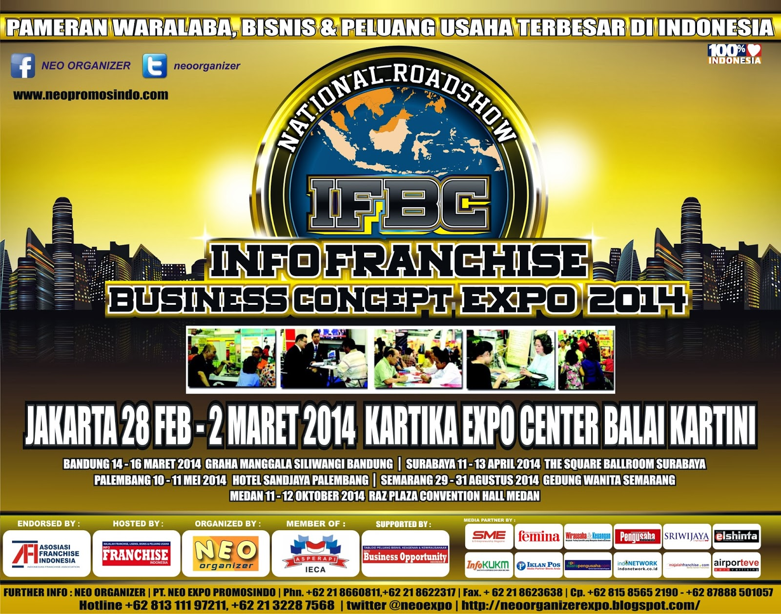 neo organizer expo info franchise business concept expo