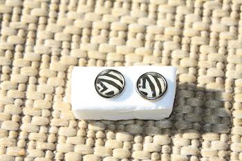 Zebra stripes silver rimmed