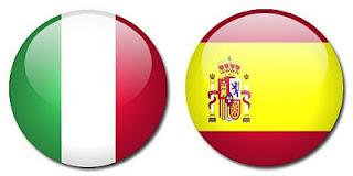 España Italia en la final eurocopa