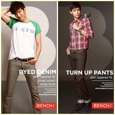 Lee Min Ho and Nichkhun for Bench Back to School Denim Campaign 2013