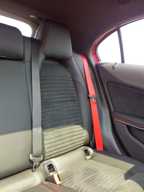 Mercedes A45 AMG - rear seats