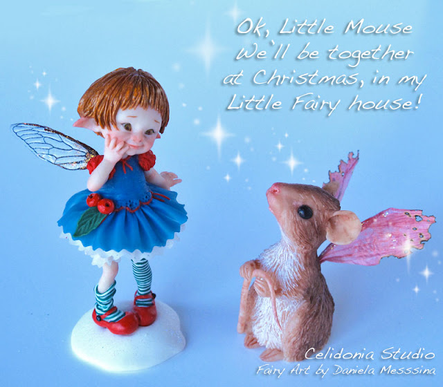Fatina del Natale con l'amico Topino - by Daniela Messina - Celidonia