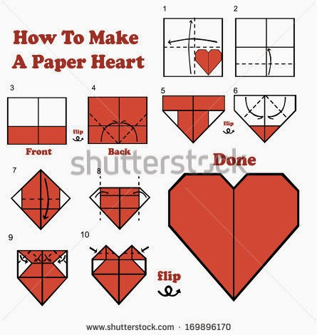 How to make a heart out of paper step by step easy with for How to make paper things easy step by step
