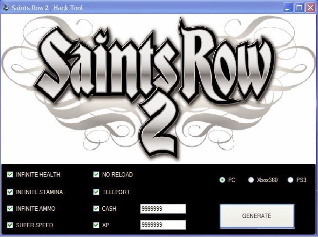 Saints Row 2 Cheats For PC,PS3 And XBOX 360